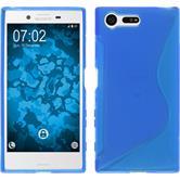 Silikonhülle für Sony Xperia X Compact S-Style blau