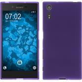 Silicone Case Xperia XZs matt purple + protective foils