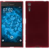 Silicone Case Xperia XZs matt red + protective foils