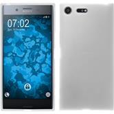 Silikon Hülle Xperia XZ Premium matt weiß + 2 Schutzfolien