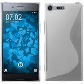 Silikon Hülle Xperia XZ Premium S-Style clear + 2 Schutzfolien