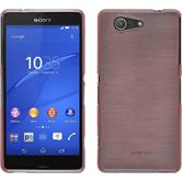 Silikon Hülle Xperia Z3 Compact brushed rosa