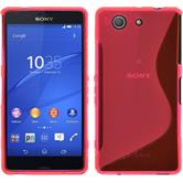 Silikon Hülle Xperia Z3 Compact S-Style pink