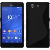 Silikonhülle für Sony Xperia Z3 Compact S-Style schwarz