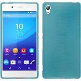 Silikon Hülle Xperia Z3+ / Plus brushed blau