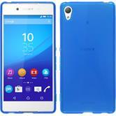 Silikon Hülle Xperia Z3+ / Plus X-Style blau + 2 Schutzfolien
