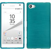 Silikonhülle für Sony Xperia Z5 Compact brushed blau