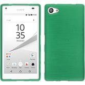 Silikon Hülle Xperia Z5 Compact brushed grün