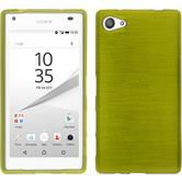Silikon Hülle Xperia Z5 Compact brushed pastellgrün + 2 Schutzfolien