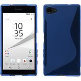Silikon Hülle Xperia Z5 Compact S-Style blau