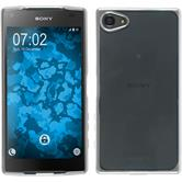 Silikon Hülle Xperia Z5 Compact Slim Fit silber