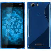 Silikonhülle für Wiko Ridge 4G S-Style blau