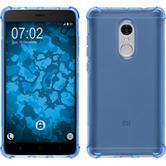 Silikon Hülle Redmi Note 4 (2016) ShockProof blau + 2 Schutzfolien