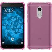 Silikon Hülle Redmi Note 4 (2016) ShockProof pink + 2 Schutzfolien
