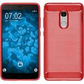 Silikon Hülle Redmi Note 4 (2016) Ultimate rot + 2 Schutzfolien