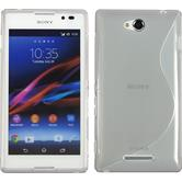 Silicone Case for Sony Xperia C S-Style gray