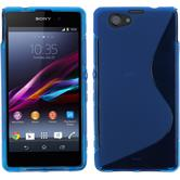 Silicone Case for Sony Xperia Z1 Compact S-Style blue