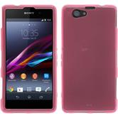 Silicone Case for Sony Xperia Z1 Compact transparent pink