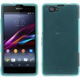 Silicone Case for Sony Xperia Z1 Compact transparent turquoise