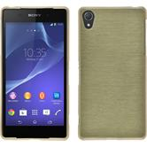 Silicone Case for Sony Xperia Z2 brushed gold