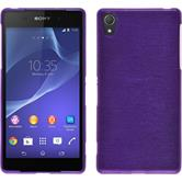 Silicone Case for Sony Xperia Z2 brushed purple
