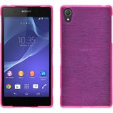 Silicone Case for Sony Xperia Z2 brushed hot pink