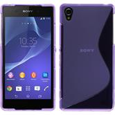 Silicone Case for Sony Xperia Z2 S-Style purple