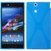 Silikon Hülle Xperia Z Ultra X-Style blau