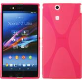 Silikon Hülle Xperia Z Ultra X-Style pink