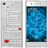 Sony Xperia XA1 Silikon-Hülle in Love  M5