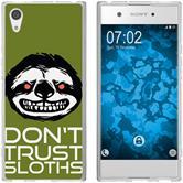 Sony Xperia XA1 Funda de silicona Crazy Animals sloth M3