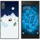Sony Xperia XZs Silicone Case Christmas X Mas M6