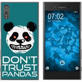 Sony Xperia XZ Silicone Case Crazy Animals Panda M2