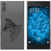 Sony Xperia XZs Silicone Case floralFox M1-1