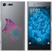 Sony Xperia XZ Premium Silikon-Hülle Floral  M1-6