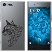 Sony Xperia XZ Premium Silikon-Hülle Floral  M2-1
