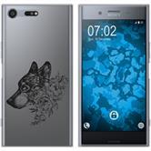 Sony Xperia XZ Premium Silikon-Hülle Floral  M3-1