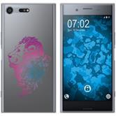 Sony Xperia XZ Premium Funda de silicona floral M6-6