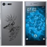 Sony Xperia XZ Premium Custodia in Silicone floral  M7-1