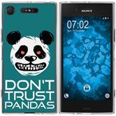 Sony Xperia XZ1 Silicone Case Crazy Animals Panda M2