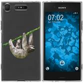 Sony Xperia XZ1 Silicone Case vector animals sloth M6