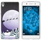 Sony Xperia E5 Silicone Case Christmas X Mas M5