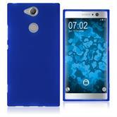 Silikon Hülle Xperia XA2 matt blau Case