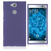 Silikon Hülle Xperia XA2 matt lila Case