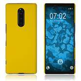 Hardcase Xperia 1 rubberized yellow Cover
