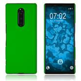 Hardcase Xperia 1 rubberized green Cover