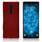 Silicone Case Xperia XZ4 rubberized red Cover