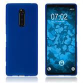 Silikon Hülle Xperia XZ4 matt blau Cover