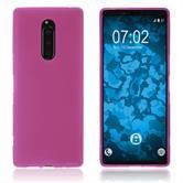 Silikon Hülle Xperia XZ4 matt pink Cover