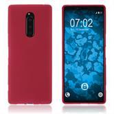 Silikon Hülle Xperia XZ4 matt rot Cover